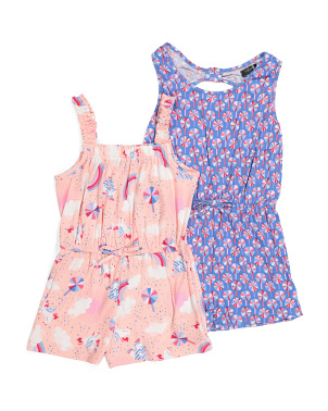 Big Girls 2pk Comfy Rompers