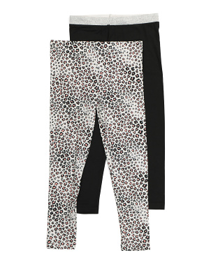 Big Girls 2pk Comfy Leggings
