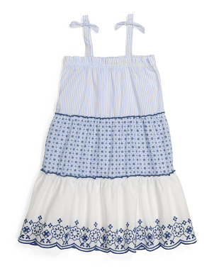 Little Girls Tiered Tie Strap Dress