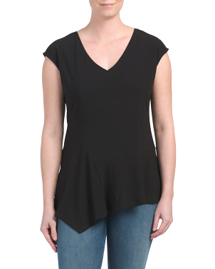 Asymmetrical V-neck Top