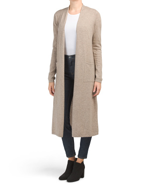 2 Pocket Cashmere Duster Cardigan
