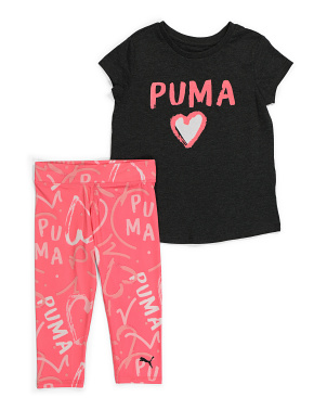 Little Girls 2pc Capri Set