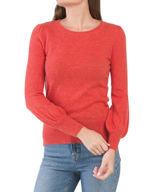 Puff Sleeve Cashmere Sweater