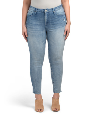 Plus Mid Rise Ankle Jeans