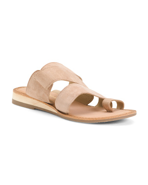 Suede Toe Ring Sandals