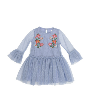 Toddler Girls Embroidered Boho Dress