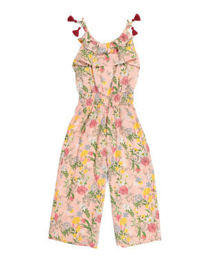 Big Girls Floral Jumpsuit