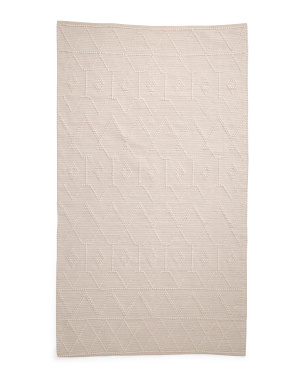 Textured Wool Loop Area Rug