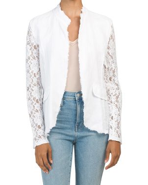 Made In Italy Linen Lace Jacket