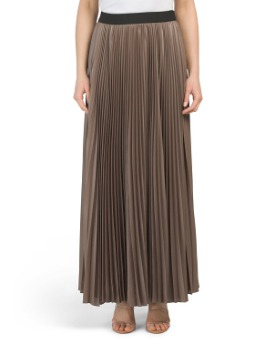 Sunburst Pleated Maxi Skirt