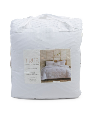4pc Pia Diamond Textured Comforter Set