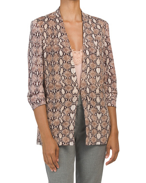 Snake Print Lightweight Jacket