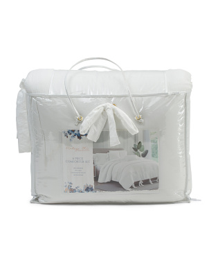 6pc Jolie Comforter Set With Tie Detail