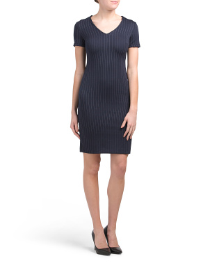 Petite Pinstripe Career Dress