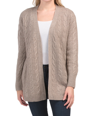 Drop Shoulder Cashmere Cardigan
