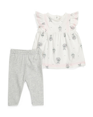 Baby Girls Bunny Tunic & Legging Set