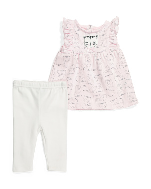 Baby Girls Kitty Tunic & Legging Set