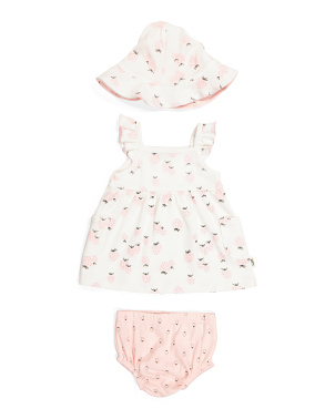 Baby Girls Organic Cotton Dress Set