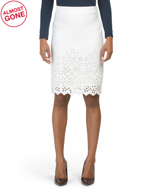 Laser Cut Edged Skirt