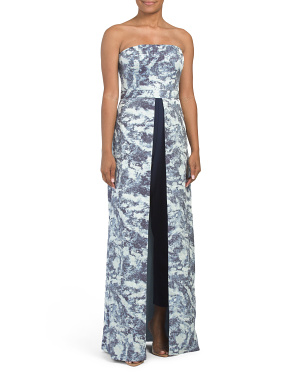 Strapless Toile Jumpsuit Dress