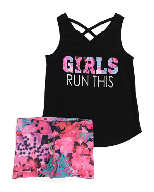 Big Girls Girls Run This Short Set