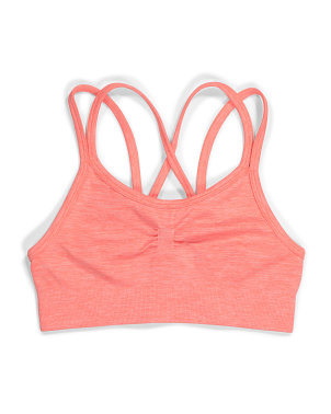 Big Girls Seamless Mesh Back Sports Bra