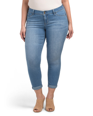 Plus Roll Cuff Booty Enhancing Jeans