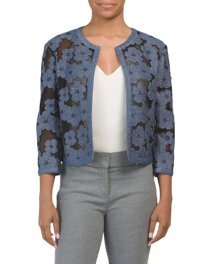 Floral Soft Shoulder Jacket