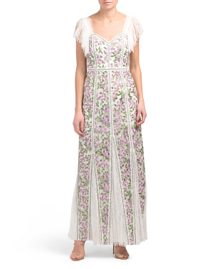 Devina Godet Maxi Dress