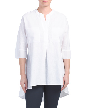Linen Tunic With Pockets