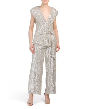 Susie Cropped Sequin Jumpsuit