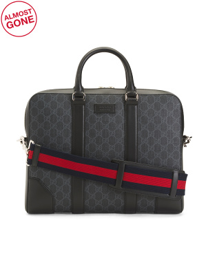 Made In Italy Supreme Canvas Briefcase