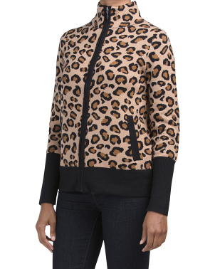 Leopard Zip Up Cardigan
