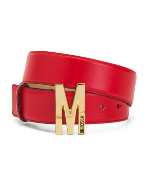 Made In Italy Wide Leather Belt