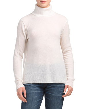 Cashmere Long Sleeve Turtleneck Sweater