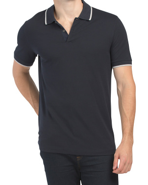 Pima Cotton Bold Stripe Polo
