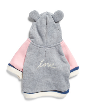 Hooded Love Ears Dog Sweatshirt