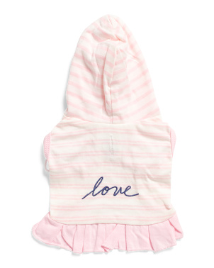 Stripe Love Hooded Dog Dress