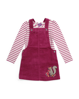 Toddler Girls 2pc Jumper & Tee Set