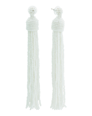 Made In India Made In India Seed Bead Tassel Drop Earrings