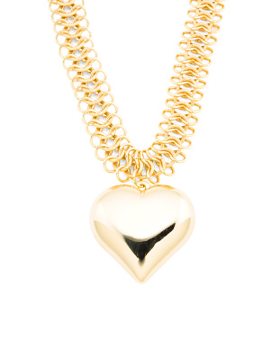 Made In Usa 22k Gold Plated Heart Necklace