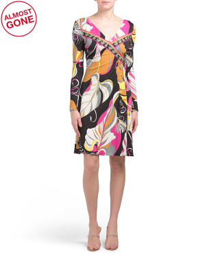 Made In Italy Printed Dress