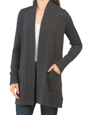 Cardigan With Center Back Detail