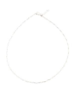 Made In Italy Sterling Silver Braided Diamond Cut Necklace
