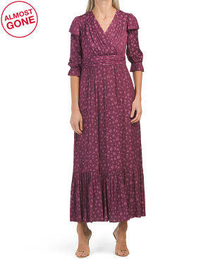 Petite Elbow Sleeve Maxi Dress