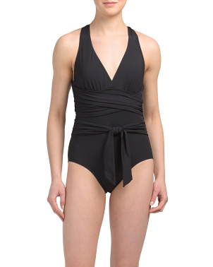 Tummy Control Wrap One-piece Swimsuit