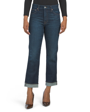 Authentic Straight Crop Jeans