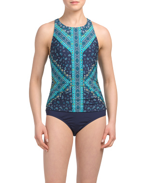 High Neck Tummy Control One-piece Swimsuit