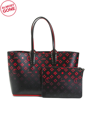 Made In Italy Small Monogram Leather Cabata Tote