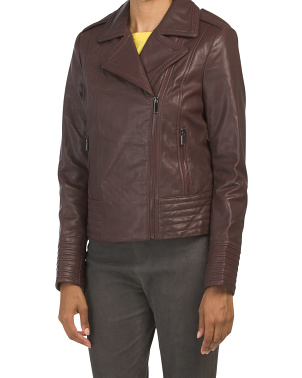 Gia Lamb Leather Jacket